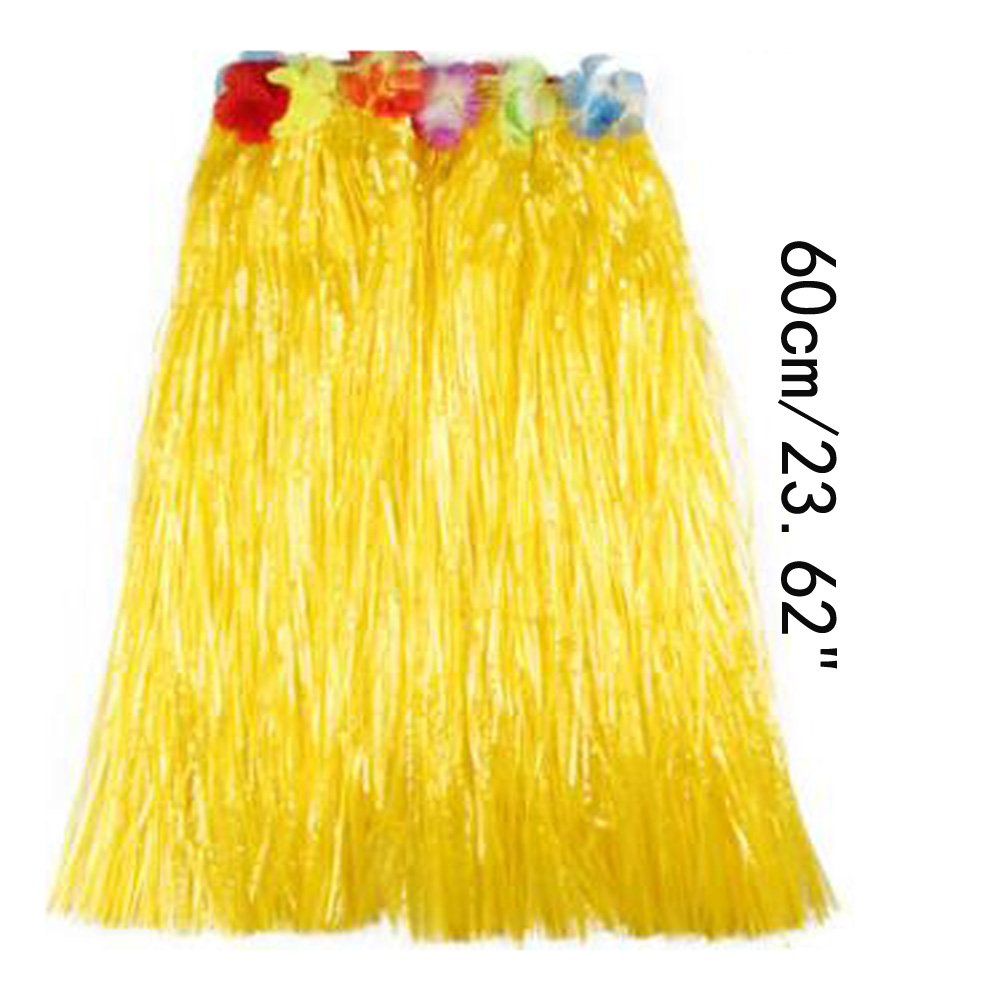Saymequeen Girls Colorful Hula Party Skirts Adults Flower Waistbands Grass Skirt