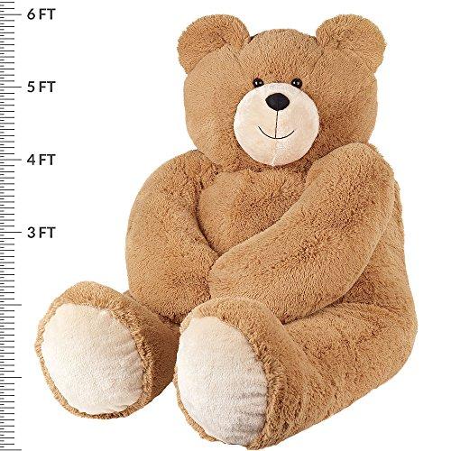 618IDL8o19L - Vermont Teddy Bear - Huge Love Bear, 6 Feet Tall, Brown