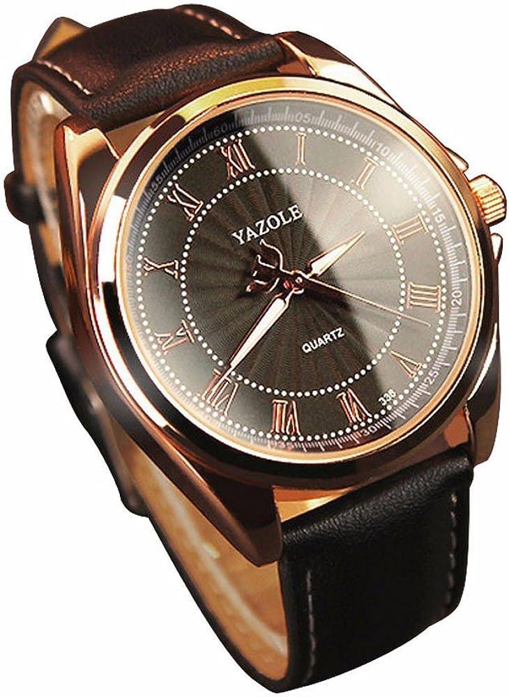 Fashion Business Quartz Watch New Casual Leather watches Men Watch Sports Wristwatch