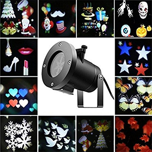Rotating Projection Led Lights 12PCS Pattern Lens Christmas