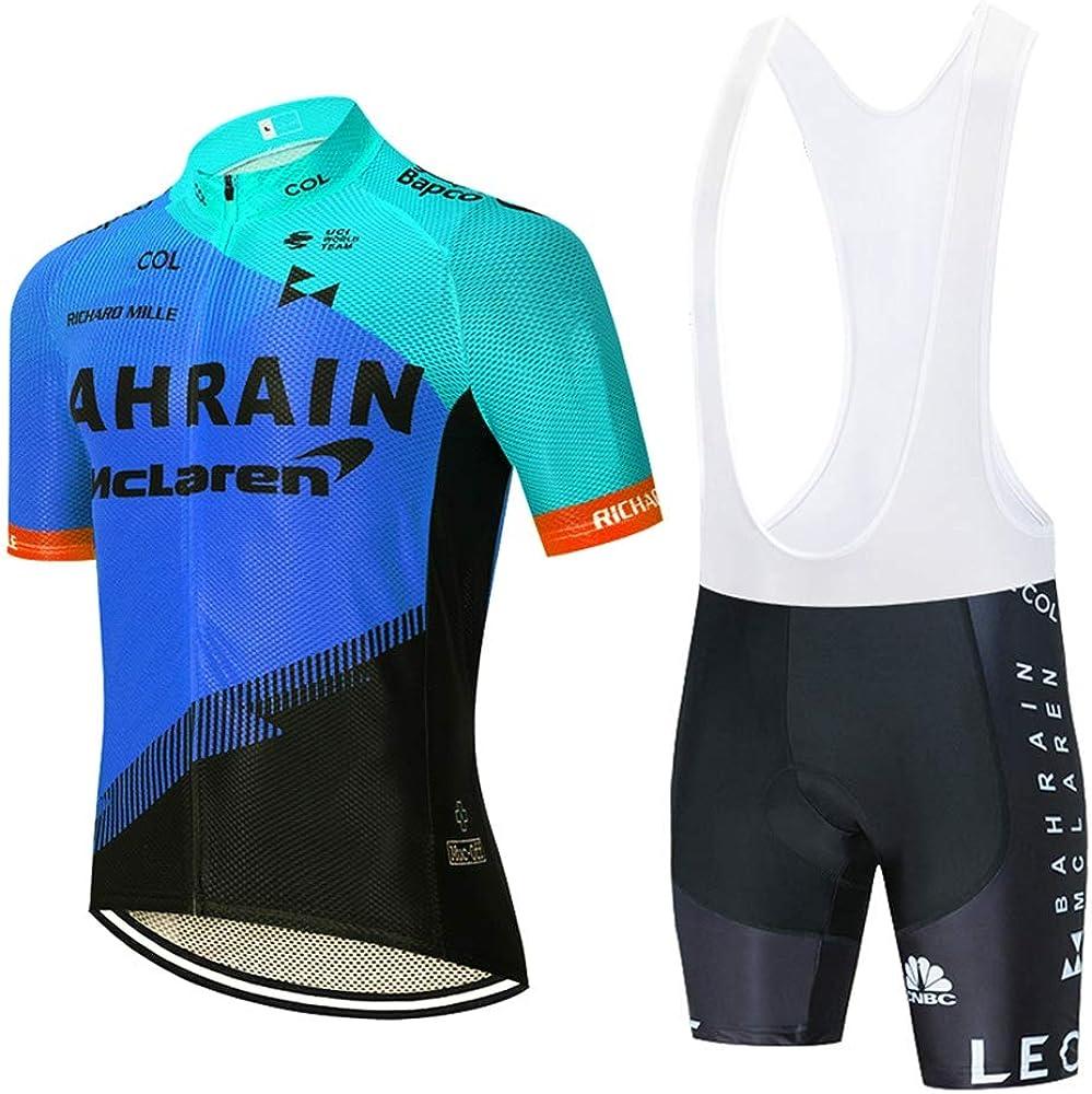 STEPANZU Ropa Ciclismo Hombre Verano Maillot Ciclismo Manga Corta Ropa MTB y Culotte Pantalones Cortos Acolchado