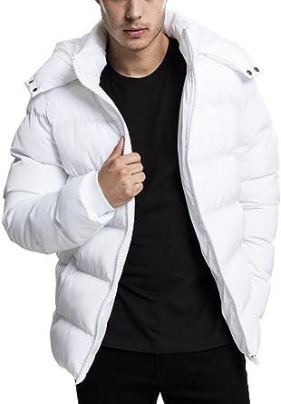 glatt Leistungssportbekleidung niedrigster Rabatt Urban Classics Herren Winterjacke Hooded Puffer Jacket, gefütterte  Steppjacke mit Kapuze, hochschließender Reißverschluss