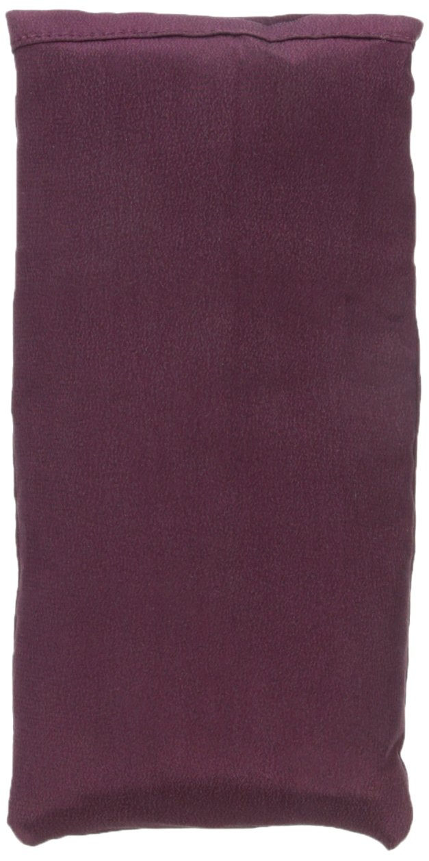 Yoga Direct Silk Lavender-Scented Eye Pillow, Eggplant by Yoga Direct