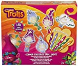 Trolls Color Decorative Lights - Fairy Lights with Color Markers & Die-Cut Papers – Child Arts & Crafts Set –Trolls Color and Decorate your Own Children Night Lights