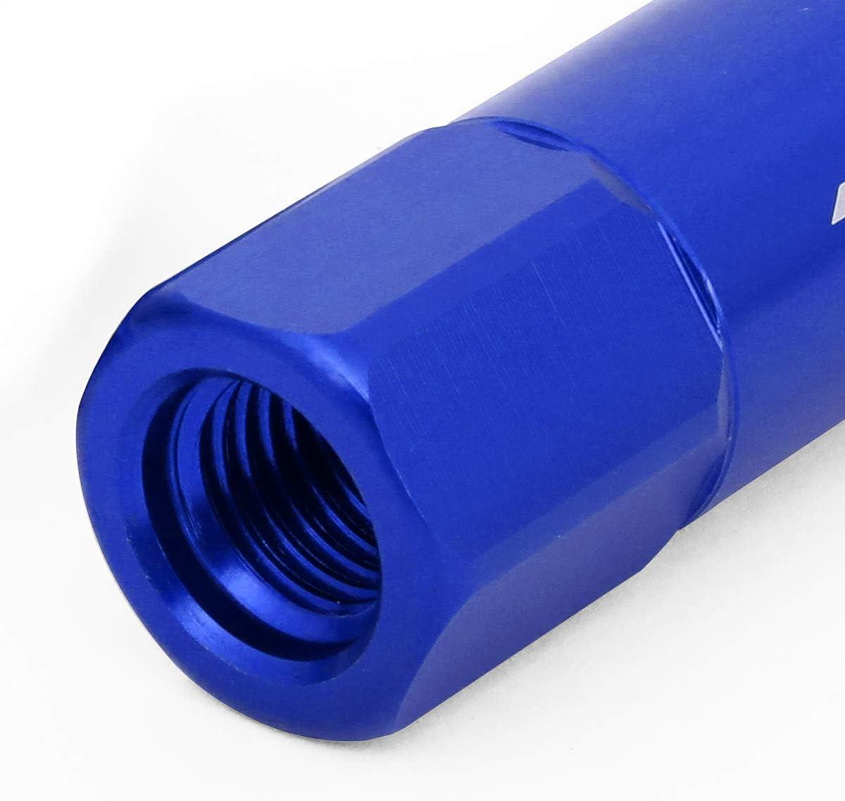 80mm Spiky Cap Lug Nut w//Adapter J2 Engineering LN-T7-022-15-BK 7075 Aluminum Black M12X1.5 20Pcs L