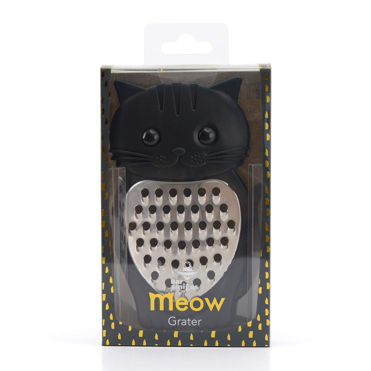 Meow novedad con dise/ño de gato herramienta de cocina de silicona acero inoxidable verduras frutas queso rallador afilado Bar Amigos Cat Rallador de queso por Bar Amigos