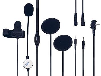 Coodio Yaesu Vertex Radio Casco Auriculares [Casco Demi-Jet] Micro-Auricular Micrófono
