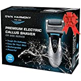 Electric Foot Callus Remover: Rechargeable Pedicure Tools for Men by Own Harmony - 3 Rollers Professional Spa Electronic…