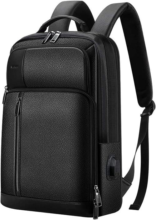 Bopai 21L Leather Travel Backpack for Men