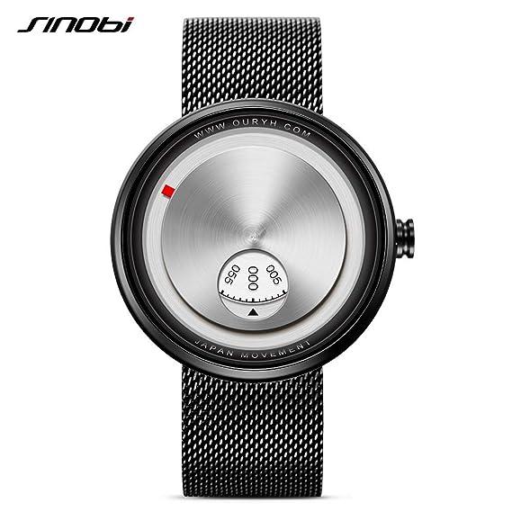 HWCOO Hermoso Relojes de Pulsera Reloj de Cuarzo de los Hombres de SINOBI / 9743 Reloj de los Hombres japoneses del Acero Inoxidable del dial de la Moda del ...
