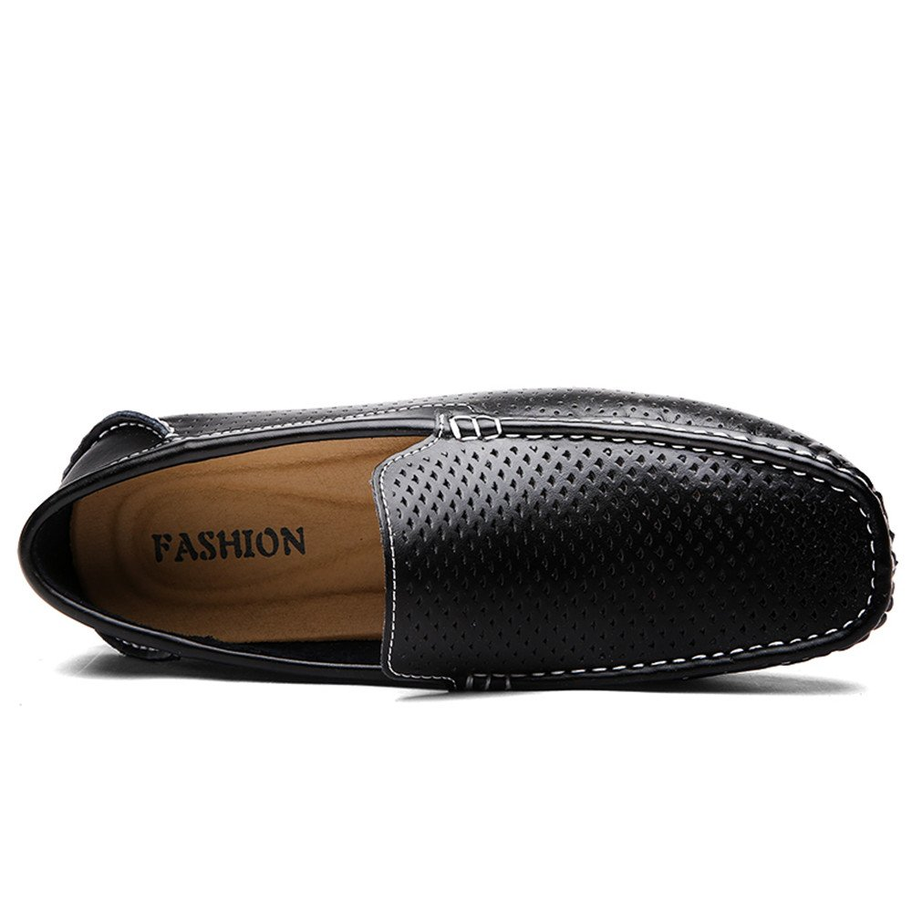 Männer Fahren Loafers Penny Loafers Fahren Hollow Sohle Vamp Slip on Flache weiche ... b84572