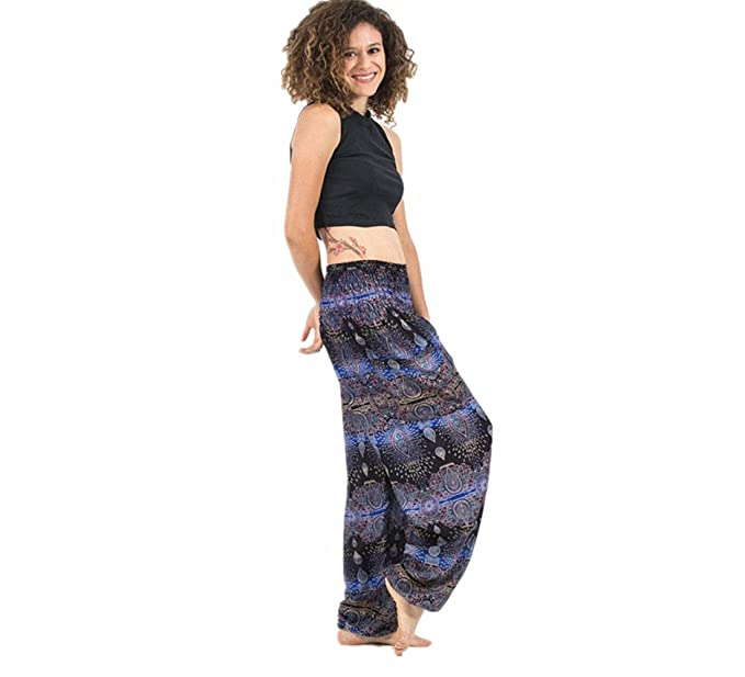 Amazon Com Itlotl Men Women Thai Harem Trousers Festival Hippy