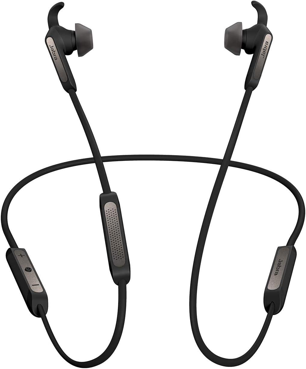 Jabra Elite 45e auriculares estéreo neckband inalámbricos con Bluetooth® 5.0 y Alexa integrada, negro y titanio