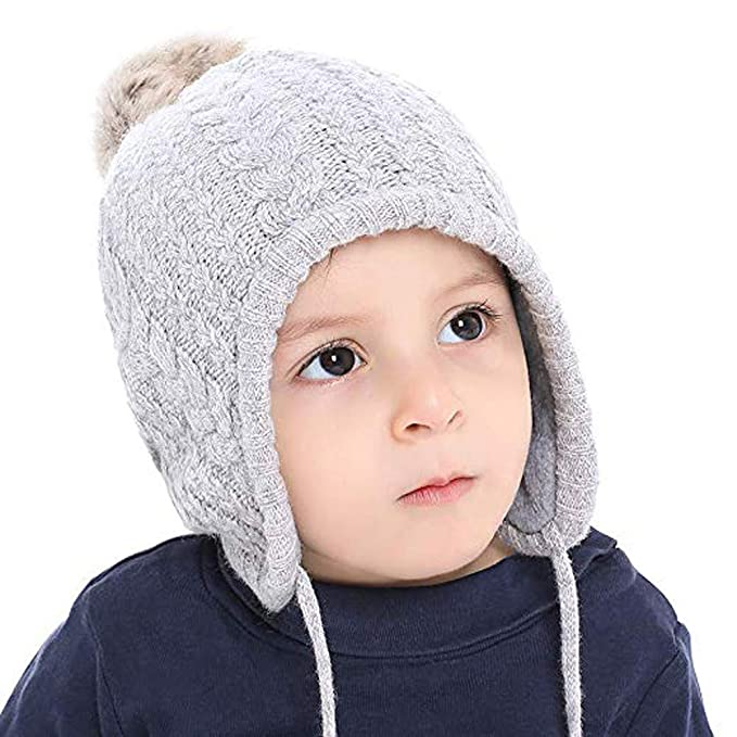 Unisex Baby Mützekleinkind Baby Wintermütze Winter Ohr Flap Beanie