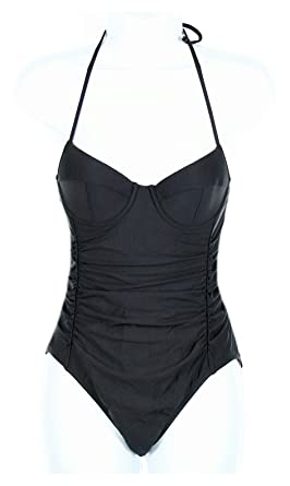 a13083cd96e40 Image Unavailable. Image not available for. Color: J Crew D-Cup Halter  Underwire One-Piece Swimsuit ...