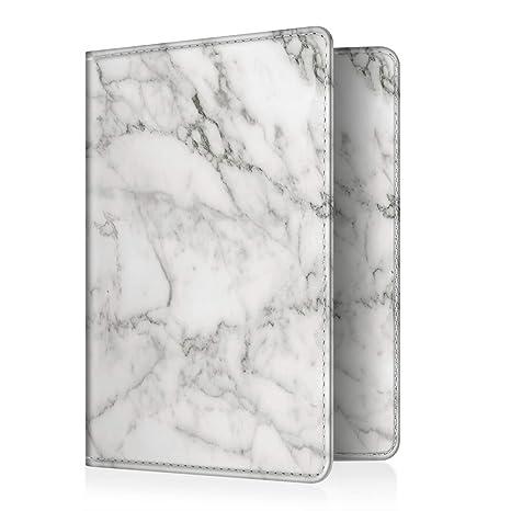 406ca782cf24 Fintie Passport Holder Travel Wallet - Premium Vegan Leather RFID Blocking  Case Cover - Securely Holds Passport, Business Cards, Credit Cards, ...