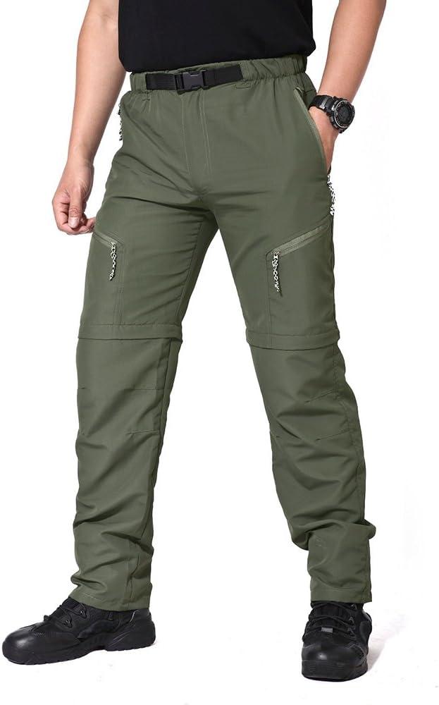 ligeros TACVASEN Pantalones de secado r/ápido para hombre con cremallera transpirables