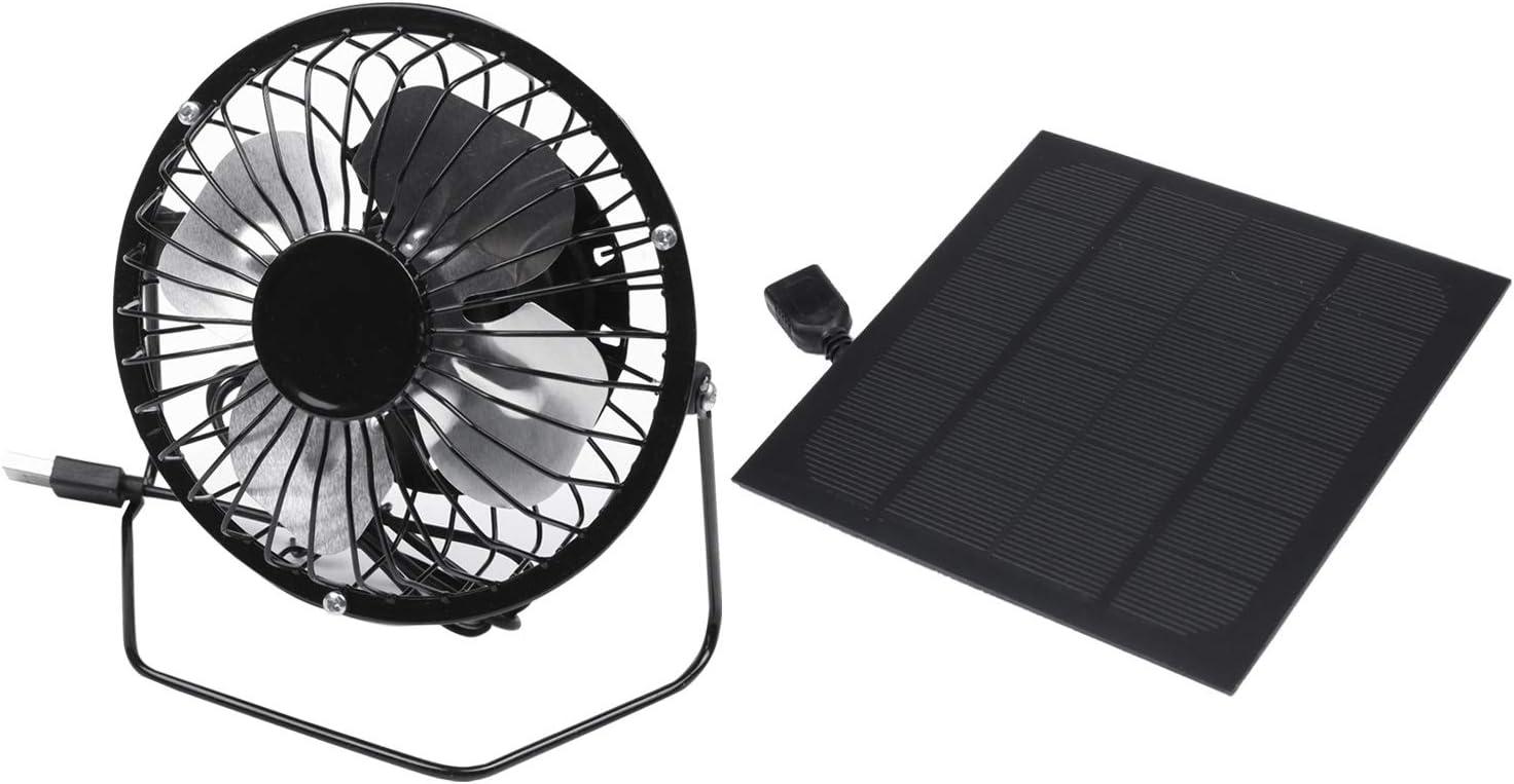 Cikuso 2.5W 5V Panel de Energía Solar Ventilador de Hierro para ...