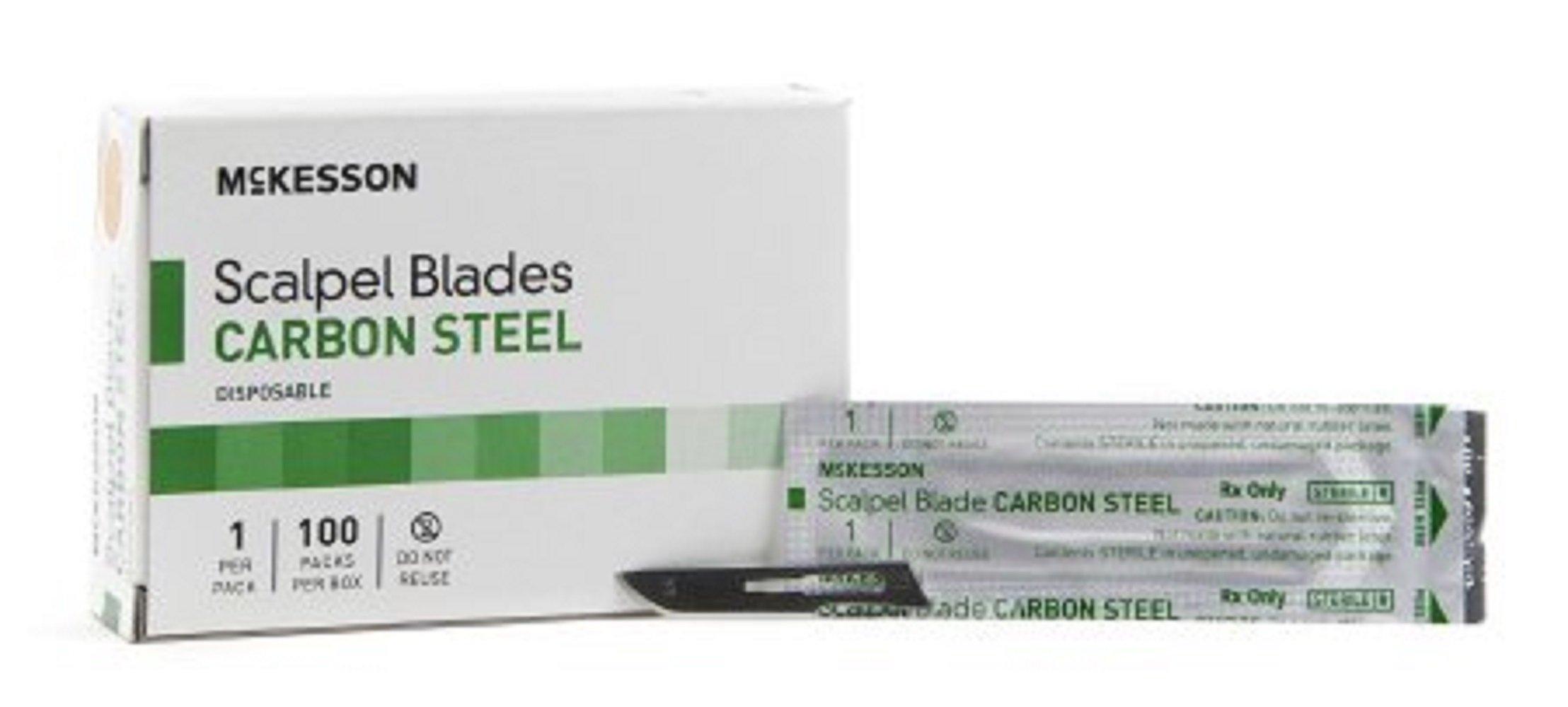 McKesson Brand - Surgical Blade - Carbon Steel - Size 10 - Sterile Disposable - Knife Edge - 5000pcs/Case