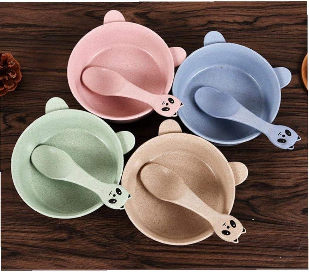 Baby Dinner Bowl Set 1 Set Cartoon Feeding Bowl Kit with Spoon Durable Baby Dinnerware for Infant Random Color