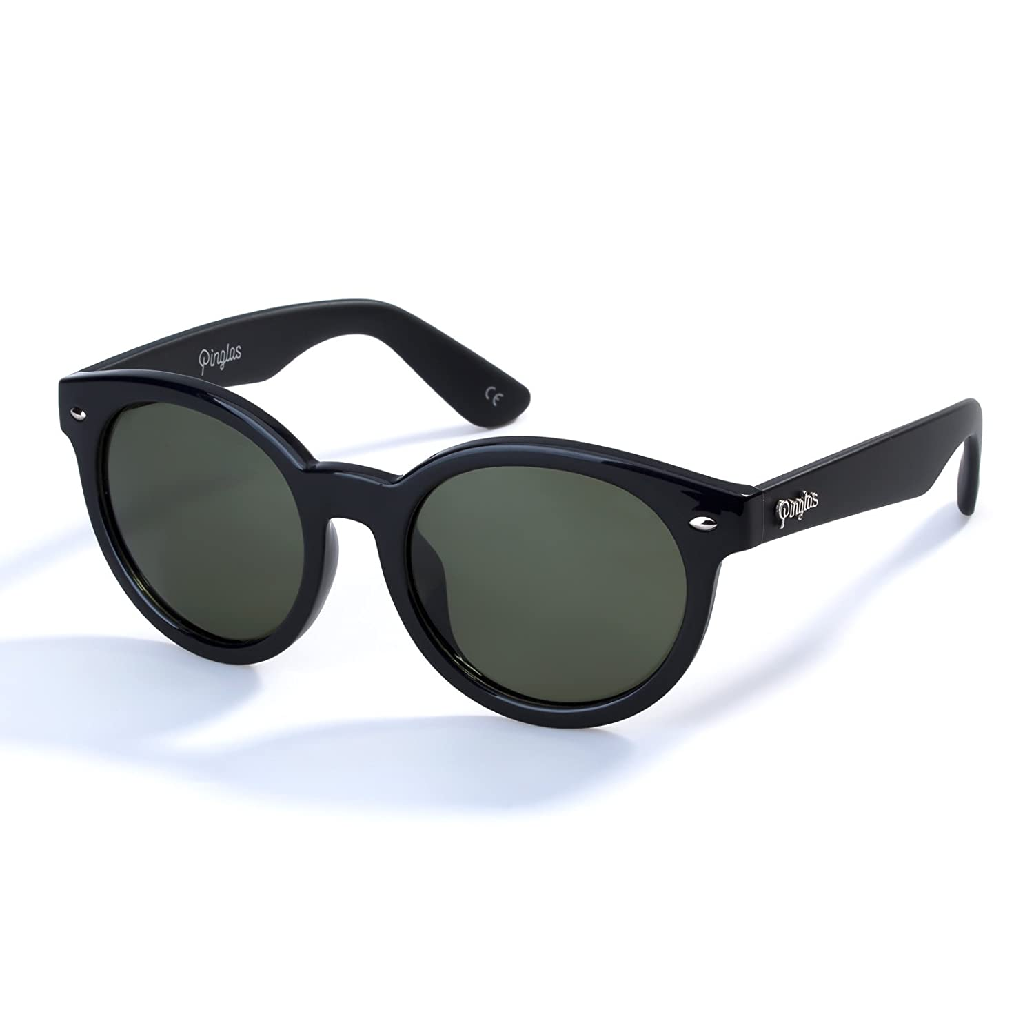 5318024a19d Amazon.com  Vintage Round Mirrored Polarized Sunglasses Dark Green Lens UV  Protection  Sports   Outdoors