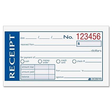 Amazon Adams Write N Stick Money And Rent Receipt 2 Part
