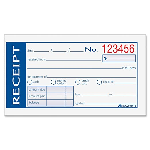 How To Write A Receipt For Rent Payment Carbon