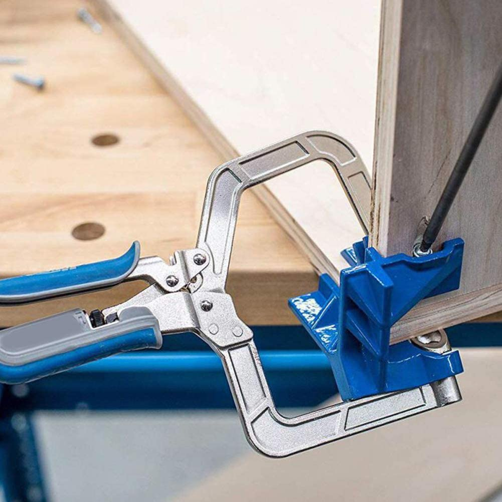 90-Grad-rechtwinkliges Holzbearbeitungswerkzeug rechtwinklig Fester Locher-Installateur BESTEU Eckklemmwerkzeug
