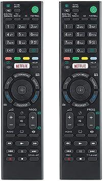 Mando a Distancia de Repuesto para TV, ABS Smart LCD Television Mando a Distancia para Sony KDL-43W808C RMTTX100 KD-43X8305C, 2 Piezas: Amazon.es: Electrónica