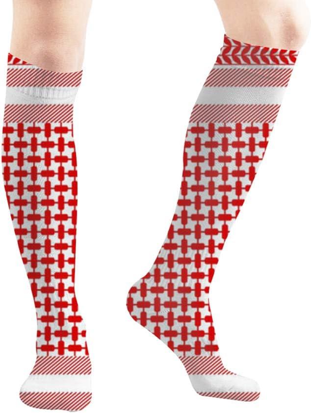 Compression Socks Leopard Unisex Full Socks Long Socks Knee High Socks Long 50cm)