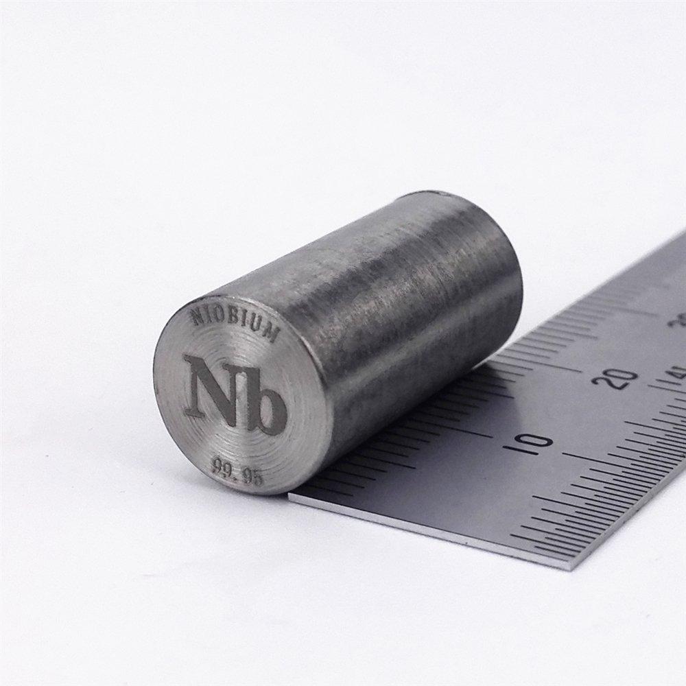 Niobium Metal Rod 99.95% 13grams 10Diameterx20mm Length Element Nb specimen Chinaium