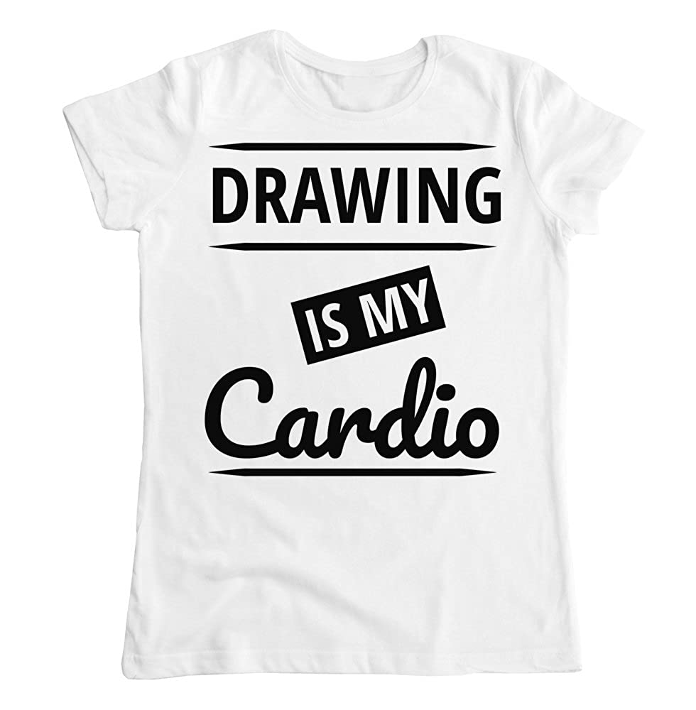 Drawing is My Cardio Womens T-Shirt