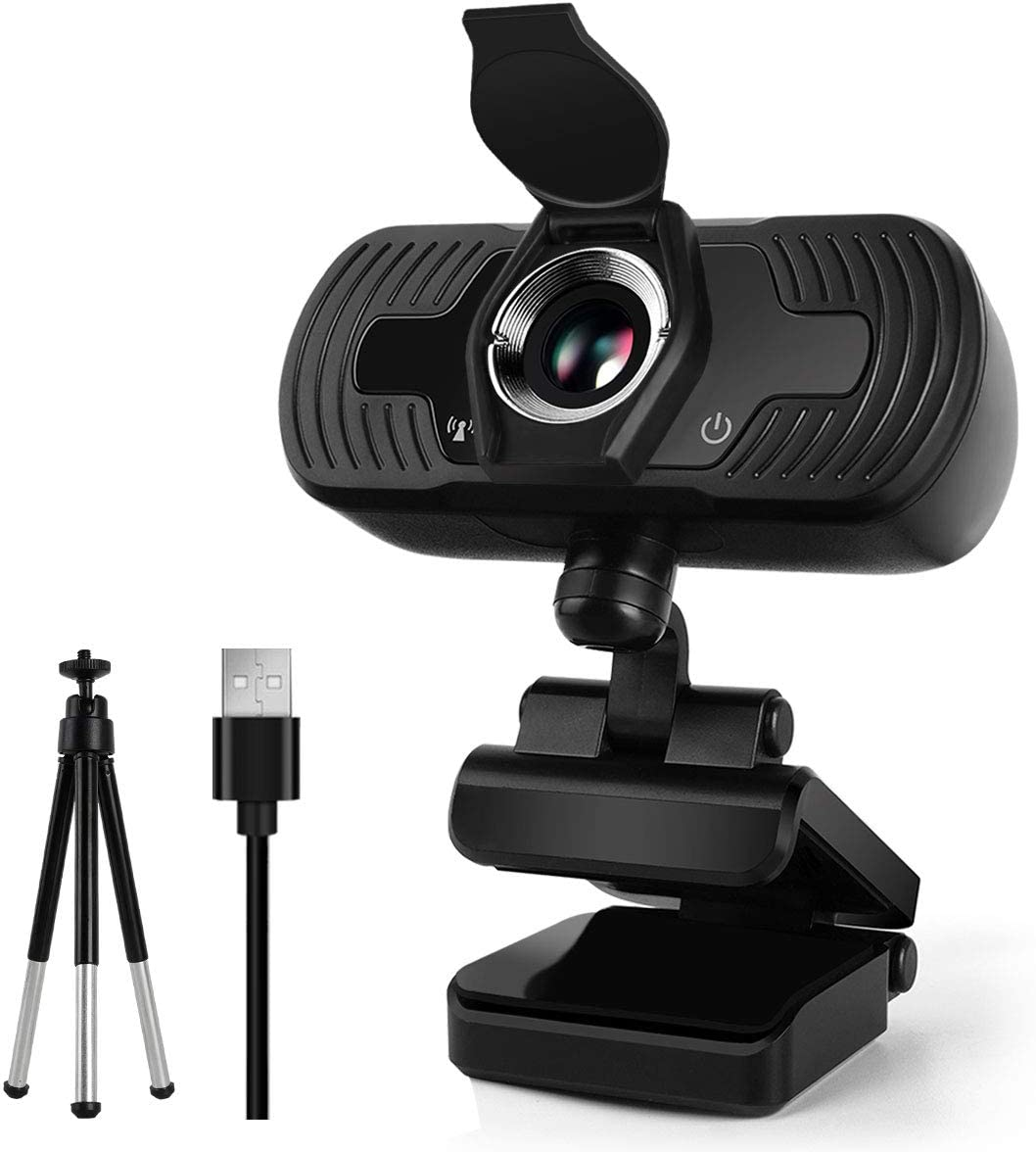 1080p HD Webcam with Microphone for Desktop Laptop PC MacBook, USB Camera Streaming Webcam with Free Privacy Cover &Tripod Stand Wide Angle for Zoom Video Conference Calls, Gaming Webcam for Xbox One