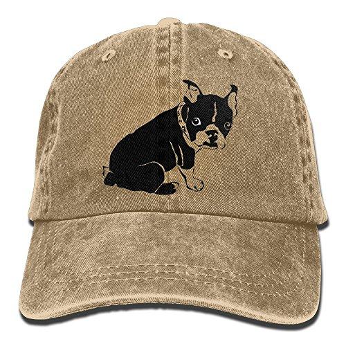 Black Boston Terrier Denim Hat Adjustable Women Classic Baseball Hat