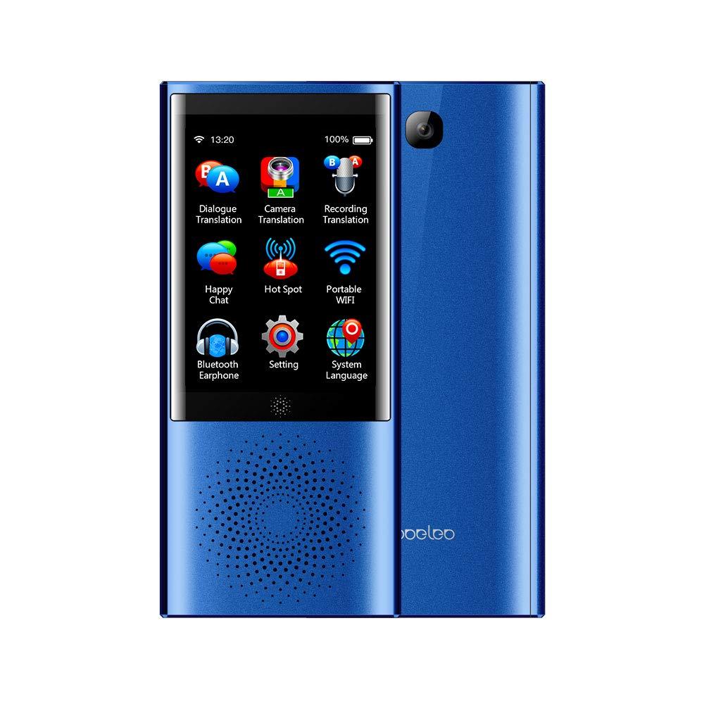 ACHICOO インテリジェント ポータブル 翻訳機 音声 Translator スマート ビジネス 旅行 AI翻訳機 2.8インチ画面 1G + 8G 45言語翻訳者 ブルー  ブルー B07QR5NF9W