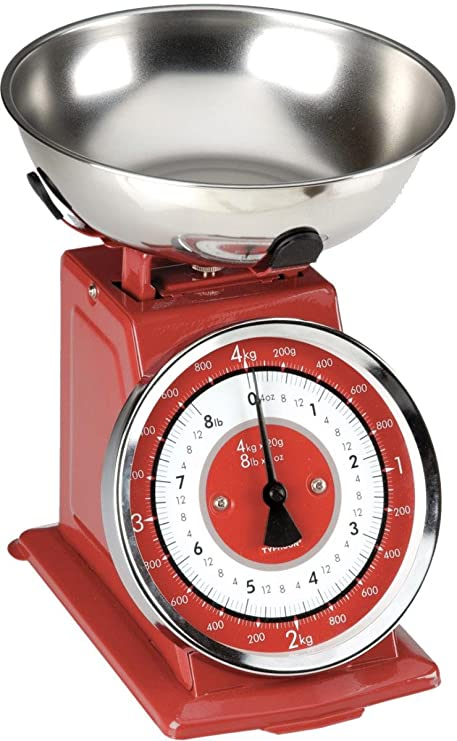 Buy Typhoon Stainless Steel Retro Mechanical Kitchen Scale Red