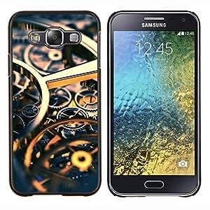YiPhone /// Prima de resorte delgada de la cubierta del caso de Shell Armor - Ingeniería Reloj Tiempo Oro Engranajes - Samsung Galaxy E5 E500