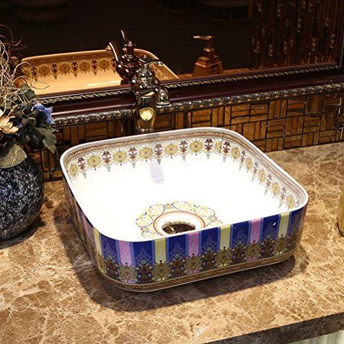 セラミックカウンター盆地近代洗面アート洗面ラベンダー(39x39x14cm) P3/17
