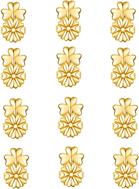 Gold Earring Back Ear Nut Earring Stopper Earring Finding Jewelry Accessory FJ
