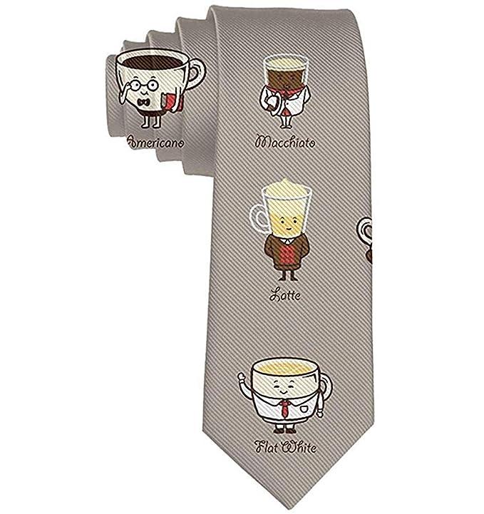 Corbata de los hombres Divertidos dibujos animados Bebida de café ...