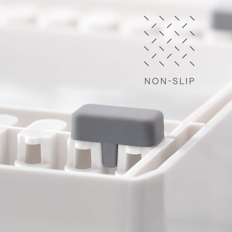plastica Metallo YouCopia Storemore Altezza espandibile da Cucina armadietto scaffale Organizer White Shelf Riser 34cm