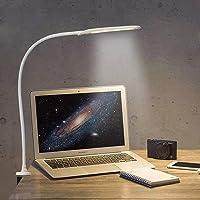 YOUKOYI Lampara con Pinza LED, Lámpara de Lectura de Brazo Largo, Control Táctil, Lámpara LED Escritorio de Mesa…