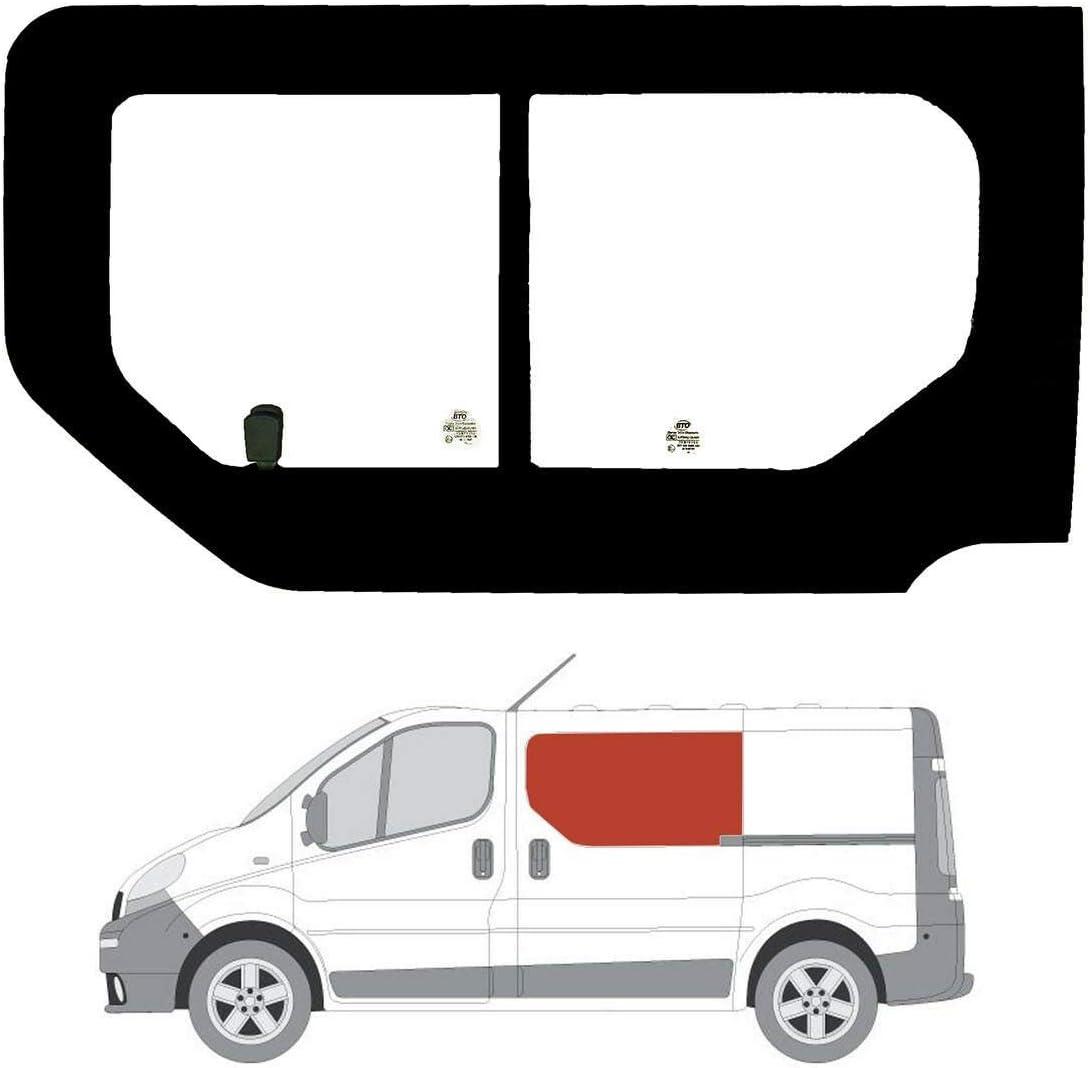 Mano izquierda ventana de apertura transparente para puerta corredera Nissan Primastar: Amazon.es: Coche y moto