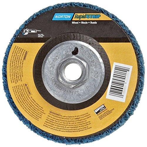 Rapid Strip - Norton 07660704015 6 Pack Rapid Strip Non-Woven Grinding Wheel, 4-1/2