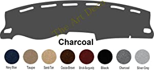 The ArtDeco Premium Carpet Dash Cover Mat for 2010-2018 Dodge Ram 2500/3500 or 2009~2018 Doge Ram 1500 Pickup Only (Please Select Color Option) (Charcoal)