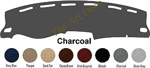 The ArtDeco Custom Made Carpet Dash Cover Fits for 1995-1996 Chevy Silverado Pickup Dash Cover Mat Pad (Charcoal)