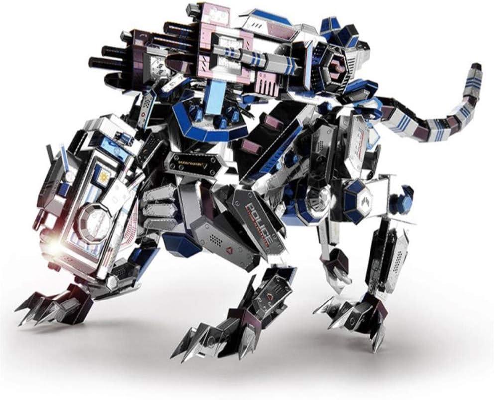 La batalla del líder: perro mecánico de metal ensamblado rompecabezas regalo de juguete DIY 3D Laser Jigsaw juguetes regalo: Amazon.es: Hogar