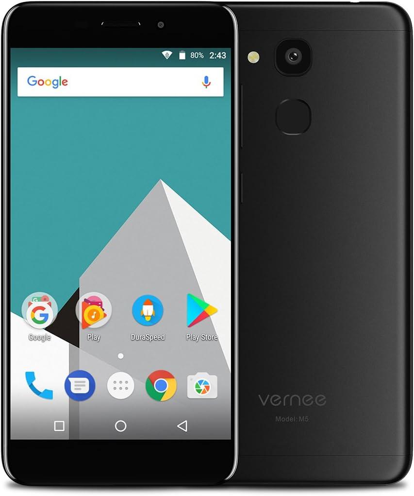 Vernee M5 4G Android 7.0 Smartphone Libre, Pantalla IPS de 5,2 Pulgadas, Octa Core 4GB RAM 64GB ROM, Teléfono Móvil Dual Sim con Sensor de Huella Digital, 8MP 13MP Cámaras(Negro): Amazon.es: Electrónica