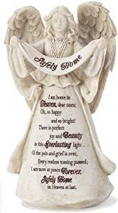 Dicksons Safely Home in Heaven at Last Stone 6.5 Inch Resin Tabletop Angel Figurine