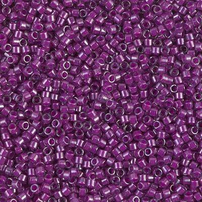 Miyuki Delica 11/0 Cylinder Seed Beads - Fuchsia Lined Crystal Luster - DB0281 5 ()
